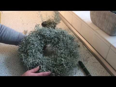 DIY: Wohn.- und Deko Idee, Adventskranz  aus Silberdraht ganz einfach selber binden / Deko Jana