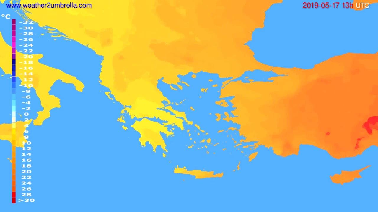 Temperature forecast Greece // modelrun: 12h UTC 2019-05-15