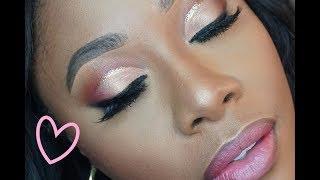 Glitter Cut Crease PINK