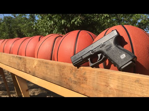 How many basketballs do you think can stop a fired bullet?