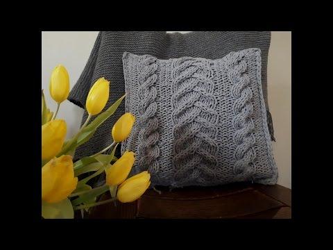 Jak zrobić poduszkę ze sznurka bawełnianego na drutach.