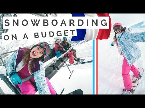 Last Minute BUDGET Ski Holiday in the French Alps [travel vlog]