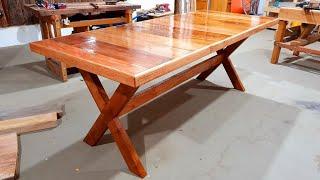 Mesa Feita Com Portas Velhas Ficou Um Luxo-old Door New Table