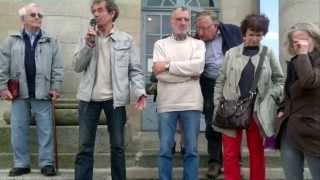 preview picture of video 'Rassemblement unitaire de soutien aux militant e s poursuivis à Alençon version militante'