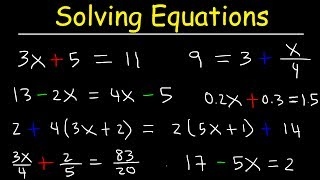 Algebra - How To Solve Equations Quickly!