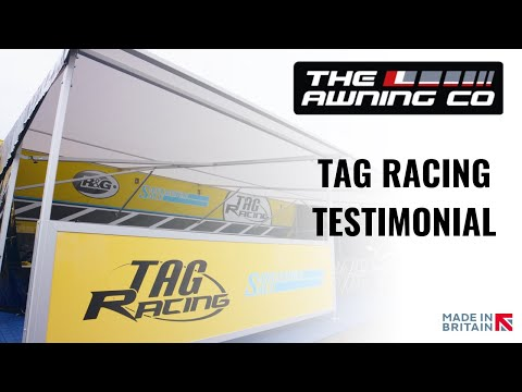 The Awning Company working with Tag Racing