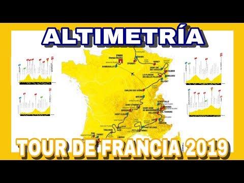 RECORRIDO TOUR DE FRANCIA 2019 🇫🇷 Etapas y Altimetria
