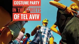 Costume Party In The Streets Of Tel Aviv
