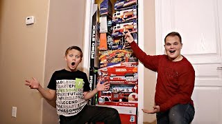 FILLED My Friend's Room with TOYS Prank! LIGHT THE WORLD