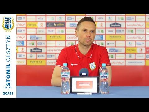 Piotr Klepczarek przed meczem GKS Bełchatów - Stomil Olsztyn