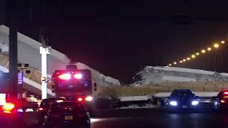 Seis personas muertas por hundimiento de un puente peatonal en Miami