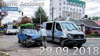 Подборка аварий и дорожных происшествий за 29.09.2018 (ДТП, Аварии, ЧП)