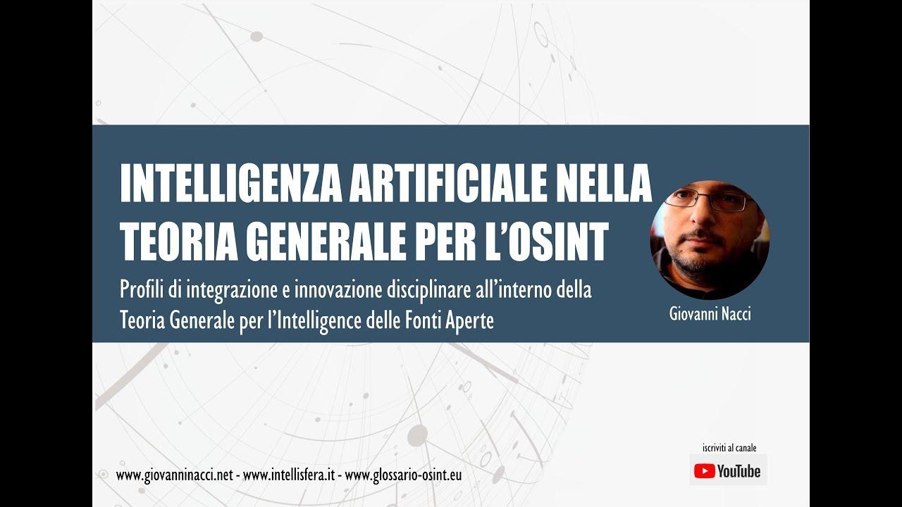 Intelligenza artificiale nella Teoria Generale per l'OSINT