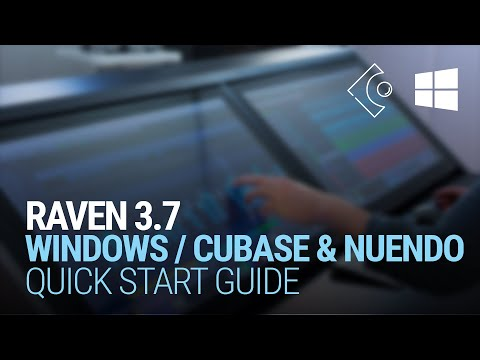 RAVEN 3.6 for Windows Cubase/Nuendo Quick Start