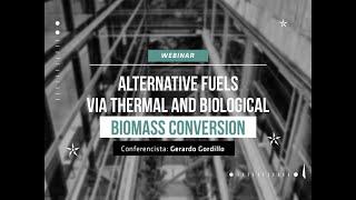 Webinar: Combustibles alternativos a traves de conversión termica y biológica de la biomasa