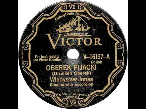 Polish 78rpm recordings, 1929. VICTOR V-16137. Oberek pijacki / Młodzieniec walc