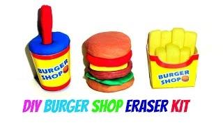 Miniature Burger, Fries & Drink Eraser Making Kutsuwa Kit