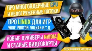 О загруженности потоков, новых видеокартах, Proton, Vulkan и Linux-гейминге - эксклюзивное интервью
