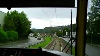 preview picture of video 'S-Bahn Mitfahrt (Murgtalbahn) Hörden nach Gernsbach'