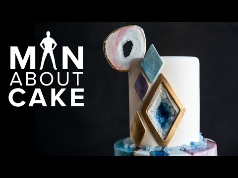 The NEW Agate Geode Cake  Man About Cake COLLAB with Rachael Teufel + Joshua John Russell