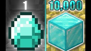 Asking for 1 diamond, but if they say yes I give them 10,000 diamonds.