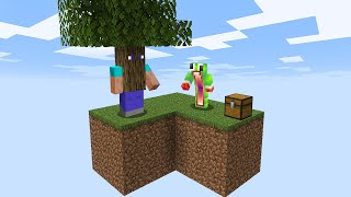 Minecraft Skyblock, But Blocks Are ALIVE!
