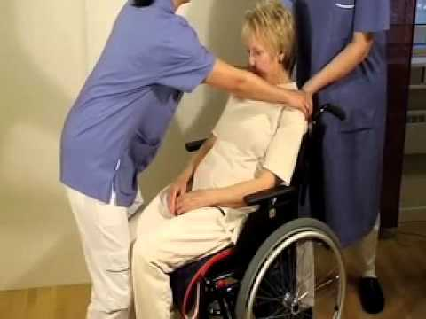 Positioning in wheel chair
