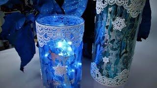 Winter Snowflake Lace Vase ~ Featuring Miriam Joy