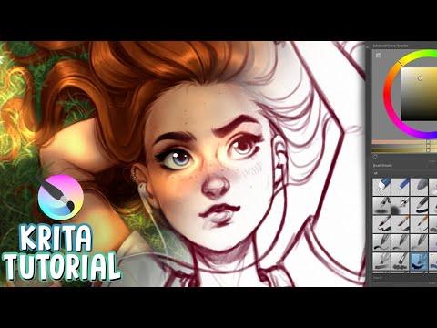 HOW TO PAINT IN KRITA 🎨✨ (Digital Art Tutorial 2020)
