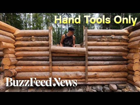 Building A Log Cabin By Hand