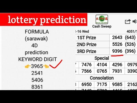 lottery - prediction cash sweep (4D) sarawak charts/carta how to win