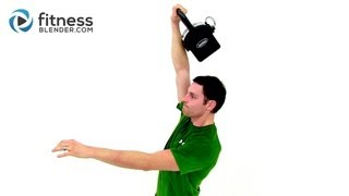 Kettlebell Workout Routine for Strength - 15 Minute Kettlebell Training with Fitness Blender by FitnessBlender