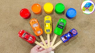 Learn colors with sports cars - learn colors and play, play and learn - Kid Studio