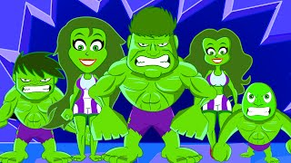 Finger Family - Green Superhero Twist Kindergarten Nursery Rhyme I Kids Videos