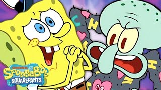 SpongeBob Makes Squidward An EYELASH SWEATER! 💣🥧