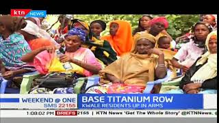Kwale County residents protest against awarding of Base Titanium a new contract
