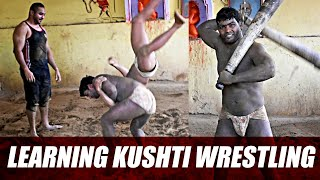 Learning KUSHTI Wrestling - Traditional Indian Wrestling in Banaras