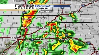 Future track radar shows timeline of severe weather, storms to hit Tulsa, northeast Oklahoma