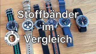 Textilbänder für Armbanduhren