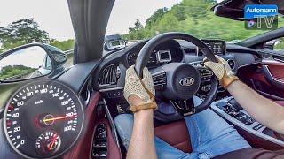 2018 KIA Stinger GT (370hp) - 0-253 km/h acceleration (60FPS)
