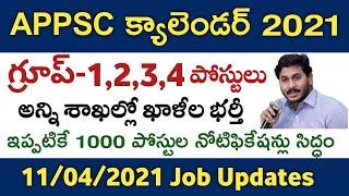 AP Jobs Calendar 2021 update   APPSC Calendar 2021 update   Group-1,2,3,4 Notifications