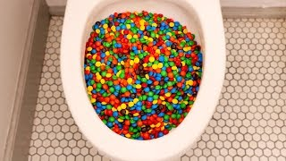 Will 40,000 M&Ms Flush?