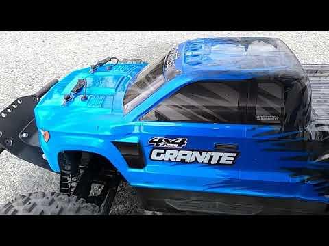 My First 100 km/h Speed Run Arrma Granite V3 Brushless 5200kv 3s lipo