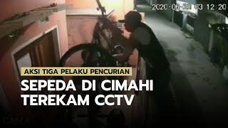 Detik-detik Aksi Tiga Pelaku Pencurian Sepeda di Cimahi, Terekam CCTV