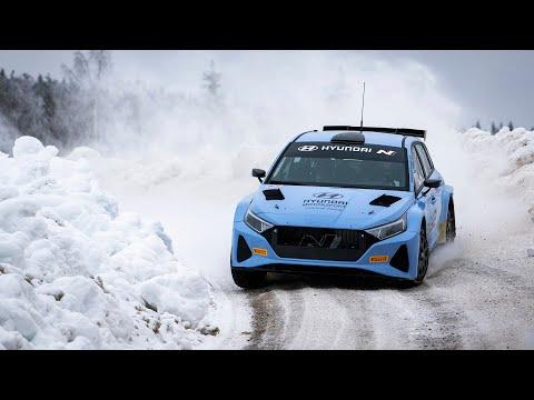 Hyundai i20 N Rally2 takes to Swedish snow as testing gears up | Oliver Solberg & Craig Breen