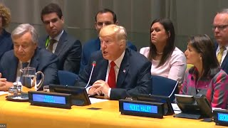 President Trump participates in the Global Call to Action on the World Drug Problem. United Nations,