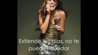 Miley Cyrus - Butterfly fly away (spanish)