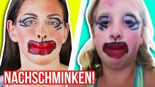 3 MAKE UP FAILS von KINDERN nach schminken! 😂 LUSTIGE PANNEN nachstellen!