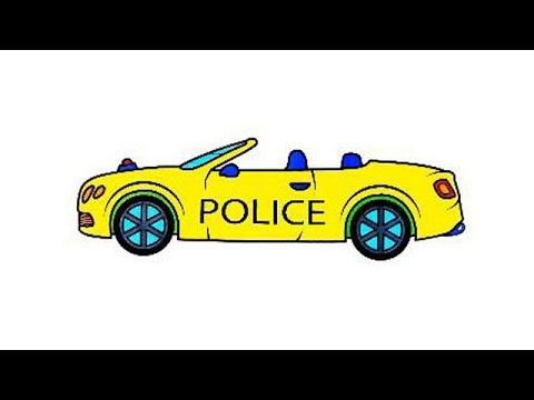 Cara Menggambar Mobil Polisi Dan Ambulans Untuk Anak Anak Halaman