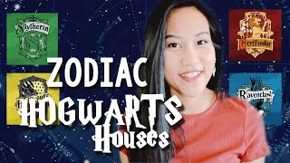 SORTING ZODIAC SIGNS INTO HOGWARTS HOUSES 🎄 / SUN AND MIDHEAVEN SIGNS /